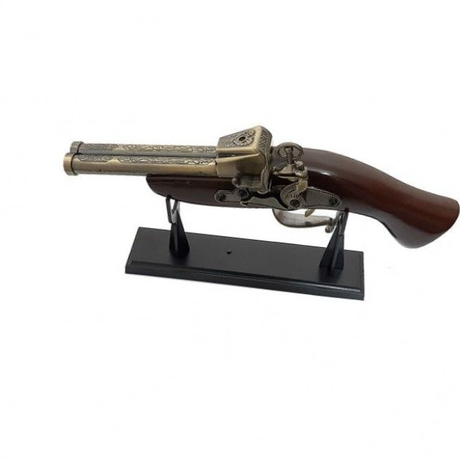 Bricheta de epoca Pistol anti-vant cu suport SE-0072