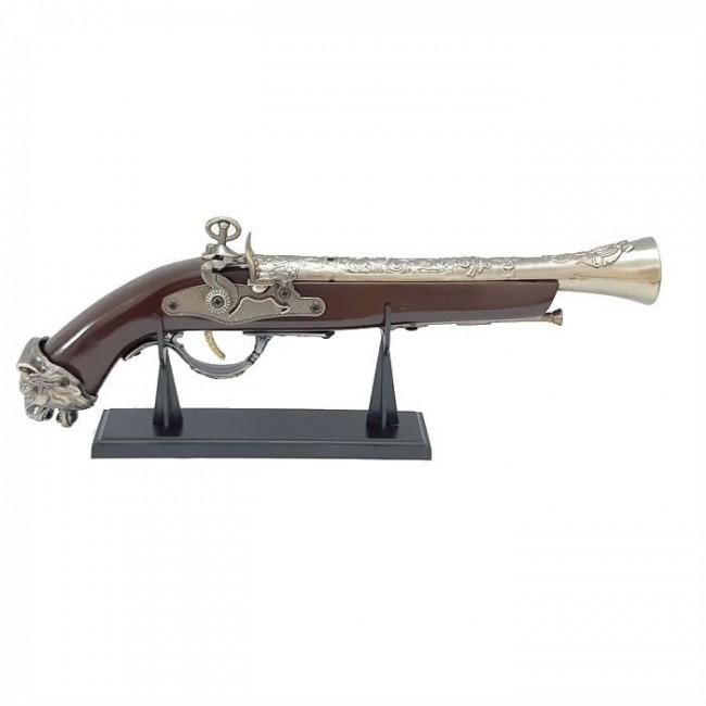 Bricheta de epoca Flinta Pistol antivant cu suport SE-0073