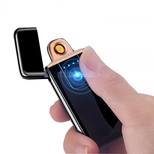 Bricheta electrica cu senzor de amprenta si incarcare USB cod 0087
