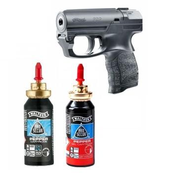 Kit pentru Autoaparare format din Pistol Walther PDP Rezerva Spray Piper Jet si Rezerva Spray Walther Pepper Gel