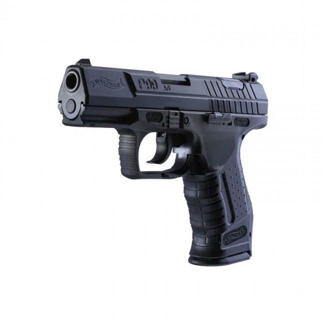 Pachet format din Pistol Walther P99 DAO 2 jouli Airsoft 10 capsule CO2 si un set de bile